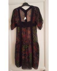 Sonia Rykiel - Robe mi-longue soie multicolore - Lyst