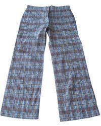 Sonia Rykiel Pantalon droit polyamide multicolore - Bleu