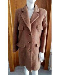 Valentino - Manteau laine mélangée beige - Lyst