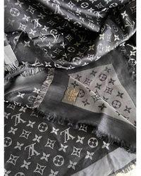 Louis Vuitton Châle soie gris