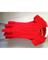The Kooples Robe courte polyamide rouge