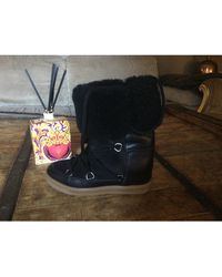 Isabel Marant Bottines & low boots à compensés cuir Nowles noir