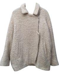 IRO Manteau laine mélangée blanc