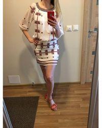 Anna Sui Robe courte soie multicolore