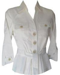 Gerard Darel Tailleur pantalon coton blanc