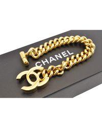 Chanel Bracelet plaqué or jaune - Métallisé
