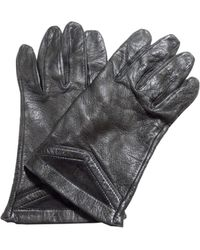 Dior Gants cuir verni noir Taille unique