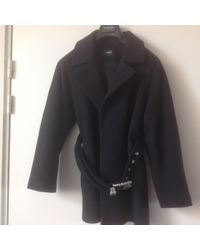 The Kooples Manteau laine noir