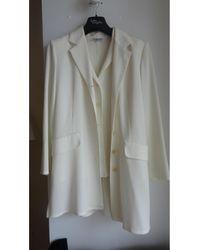 Gerard Darel Tailleur pantalon polyester blanc