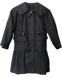 Longchamp Imperméable, trench coton noir