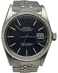 Rolex Montre au poignet acier DATEJUST noir