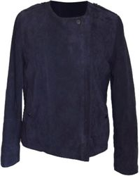 Longchamp Veste daim violet