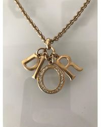 Dior Pendentif, collier pendentif métal doré - Métallisé