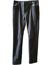 Alexander Wang Pantalon droit coton noir