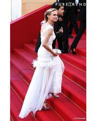 Nina Ricci Robe longue soie blanc