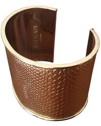 Balmain Bracelet metal aluminium doré - Métallisé