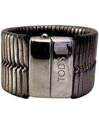 Tod's Bracelet cuir gris