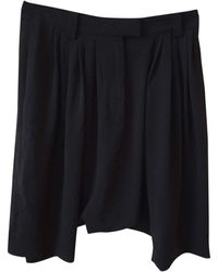 Givenchy - Bermuda polyester noir - Lyst
