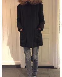 Maje Manteau polyester noir