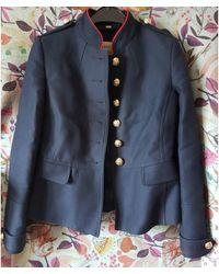 Burberry - Imperméable, trench coton bleu - Lyst