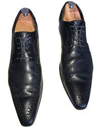 Dolce & Gabbana Chaussures à lacets cuir noir