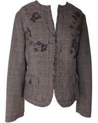 Gerard Darel - Blazer, veste tailleur laine marron - Lyst
