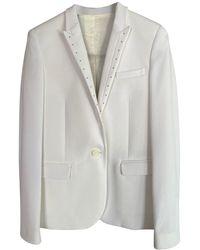 The Kooples - Blazer, veste tailleur polyester blanc - Lyst