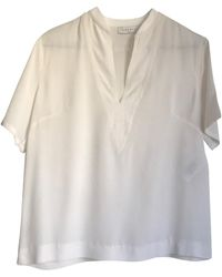 Sandro Top, tee-shirt soie blanc