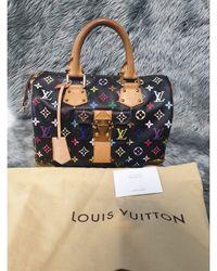 Louis Vuitton Sac à main en cuir cuir Speedy multicolore