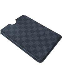 Louis Vuitton Etui iPhone cuir bleu