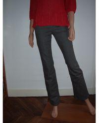 JOSEPH - Jeans droit coton gris - Lyst