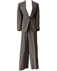 Max Mara Tailleur pantalon laine gris