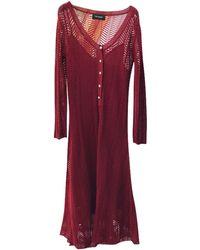 The Kooples Robe mi-longue viscose rouge