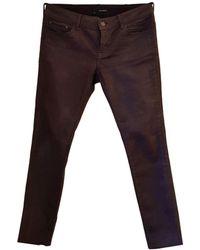 The Kooples Jeans droit coton rouge