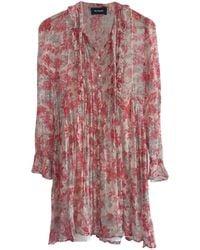 The Kooples Robe courte soie rose