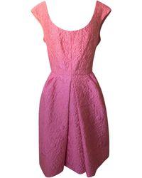 Louis Vuitton - Robe courte coton rose - Lyst