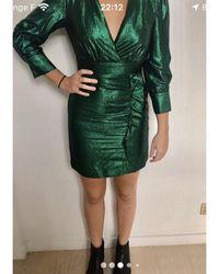 Maje Robe courte viscose vert