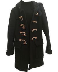 Balmain Manteau laine noir