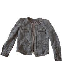 Maje - Blazer, veste tailleur laine mélangée vert - Lyst