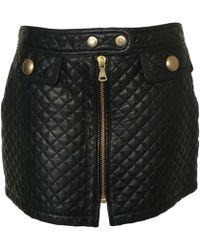 Dolce & Gabbana Jupe courte cuir noir