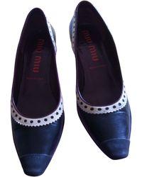 Miu Miu Escarpins cuir Embellished noir