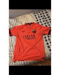 Nike - Tee-shirt polyester orange - Lyst
