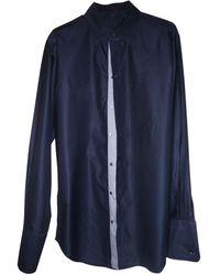 Louis Vuitton - Chemise coton bleu - Lyst