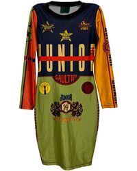 Jean Paul Gaultier Robe mi-longue synthétique multicolore