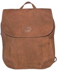 Longchamp - Sac à dos nubuck marron - Lyst
