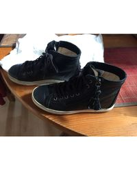UGG - Baskets cuir noir - Lyst