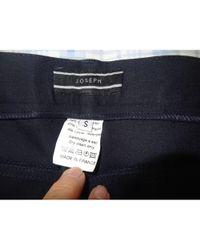 JOSEPH Jeans droit coton bleu