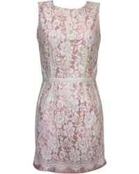 Dolce & Gabbana - Robe mi-longue viscose rose - Lyst