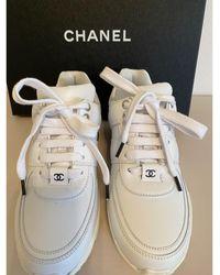 Chanel Baskets cuir blanc