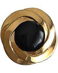 Lanvin Broche acier doré - Métallisé